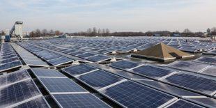 Hollanda'nın en büyük çatı üstü sistemi üretime başladı