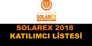 SOLAREX İstanbul 2018 Katılımcı Listesi belli Oldu